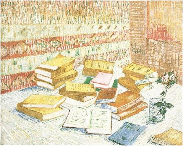 Still-Life-with-French-Novels-and-a-Rose
