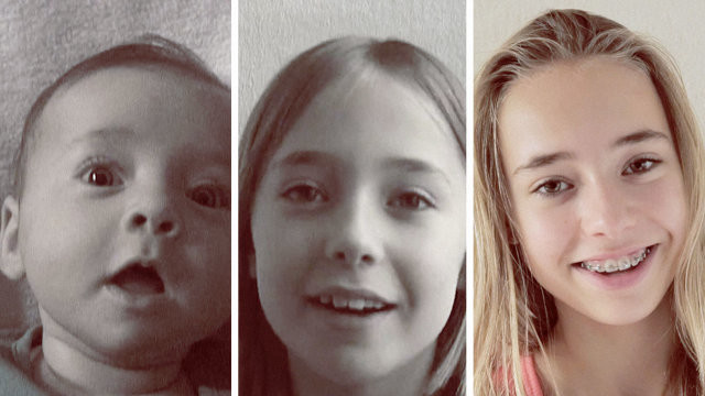 Watch  Girl Growing up from Birth to 14 years in 4 Minutes, Amazing Idea !