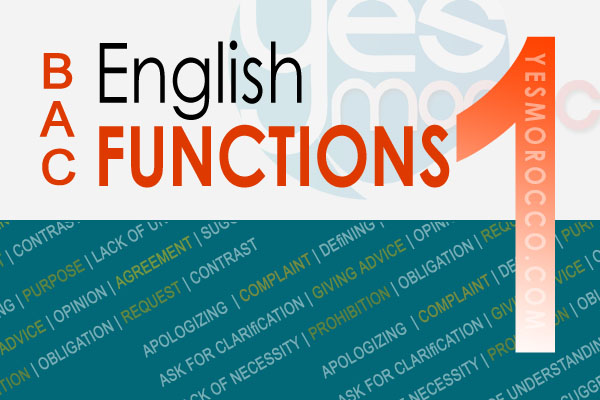 A2Z English Functions - Part 1 - for Bac & English Learners