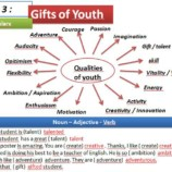Unit : Gifts of Youth – Vocabulary