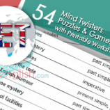 54 Mind Twisters, Puzzles & Games , with Printable Worksheets – Book