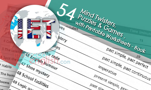 54 Mind Twisters, Puzzles & Games , with Printable Worksheets - Book ...