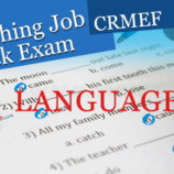 LANGUAGE PART – Teaching Job Mock Entrance Exam (CRMEF)