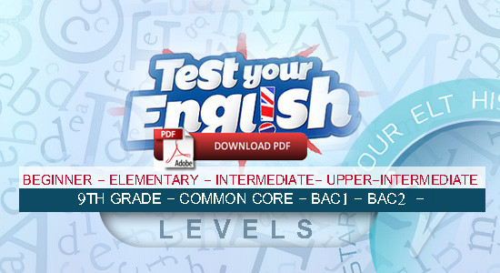 test english,english tests and quizzes,