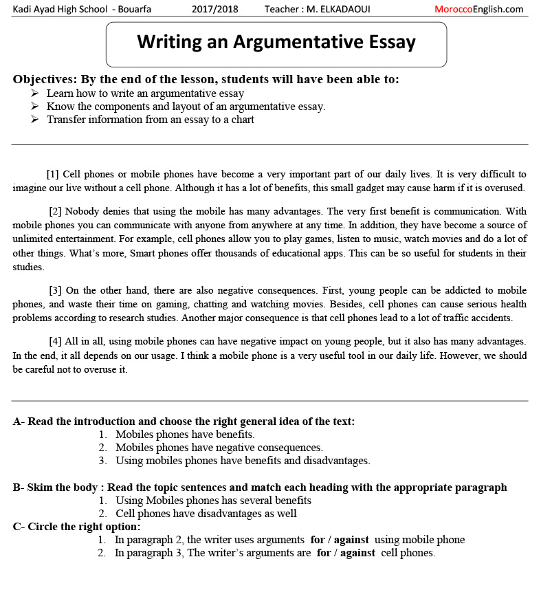 Full Demo Lesson  Teaching Writing Argumentative Essay Adopting