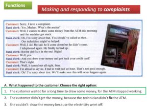 Communication : Making Complaints - Discovery Approach Based