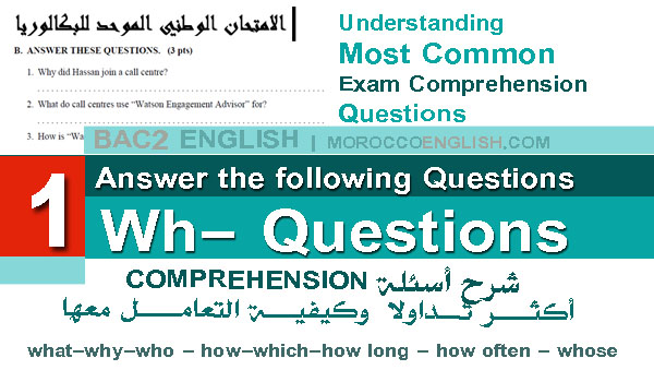 Understanding Wh-Questions: Common Exam Comprehension