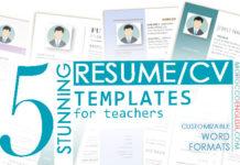 CV, Resume templates for teachers