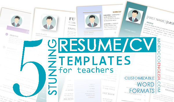 5 Stunning Resume Cv Templates Designed Particularly For