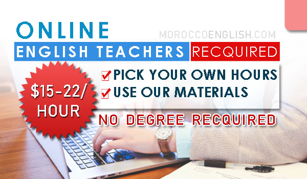 Online English Teachers Required, Use our materials & pick your own