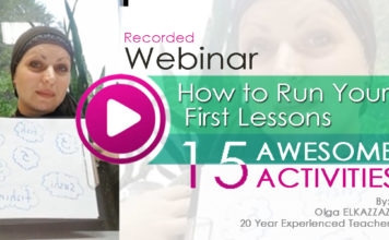 Watch: 15 Activities For Successful First Lesson, Recorded Webinar