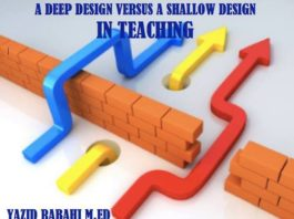 LESSON PLANNING: A DEEP DESIGN VERSUS A SHALLOW DESIGN